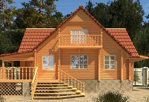 单层木结构别墅